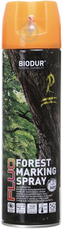 Фарба аерозольна Biodur для маркування лісу помаранчевий 500 мл - фото 1