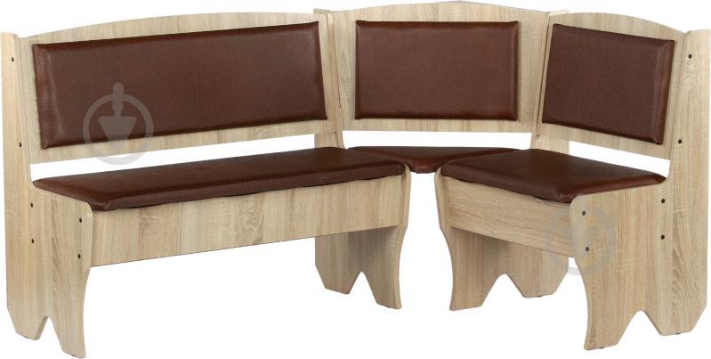 Куточок кухонний Компаніт Імператор зі столом та 2 табуретками дуб сонома бронза - фото 10