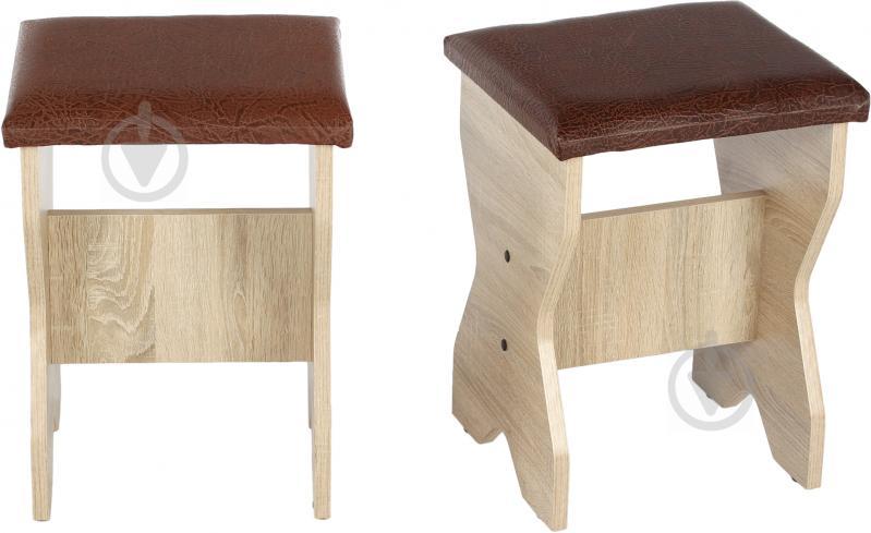 Куточок кухонний Компаніт Імператор зі столом та 2 табуретками дуб сонома бронза - фото 11
