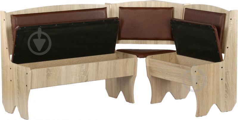 Куточок кухонний Компаніт Імператор зі столом та 2 табуретками дуб сонома бронза - фото 3