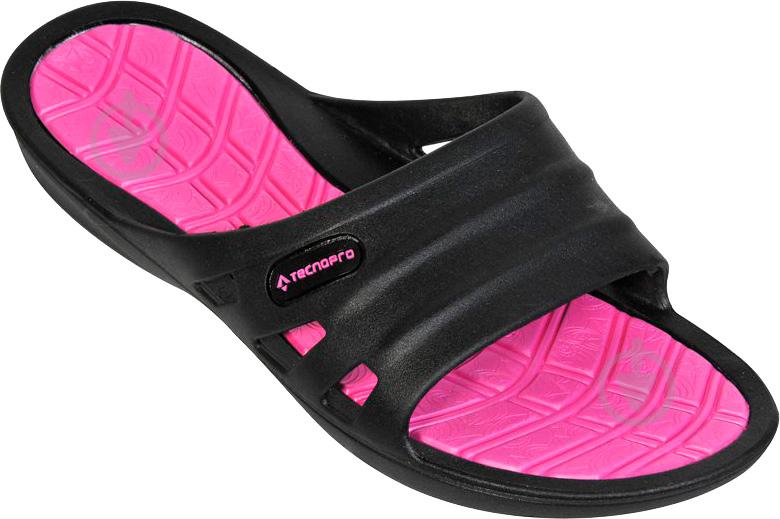 Шлепанцы TECNOPRO Slide Shui W 261718-900050 р. 37 черно-розовый - фото 1