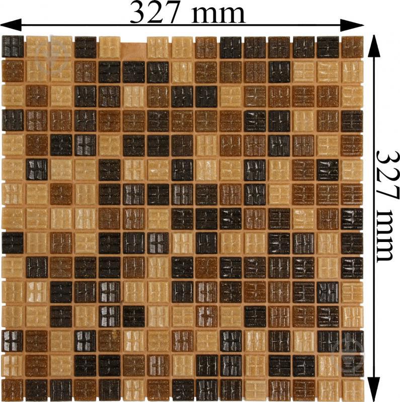 Плитка Value Ceramics мозаика коричневый микс CT22405 32,7x32,7 - фото 4