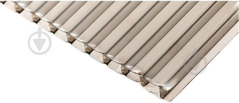 Поликарбонат сотовый 4мм 1050x3000мм бронзовый - фото 1