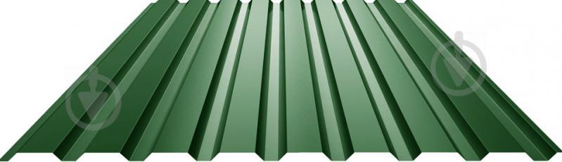 Профнастил глянцевий СТАЛЕКС ПС-18 0,4x1140x1500 мм RAL 6005 зелений - фото 1