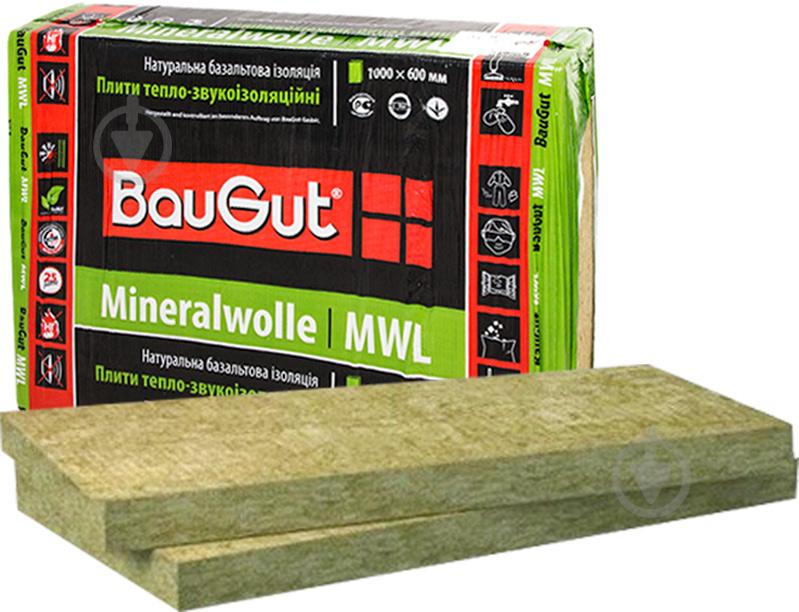 Базальтова вата BauGut Фасад 100мм 1,2кв.м - фото 1