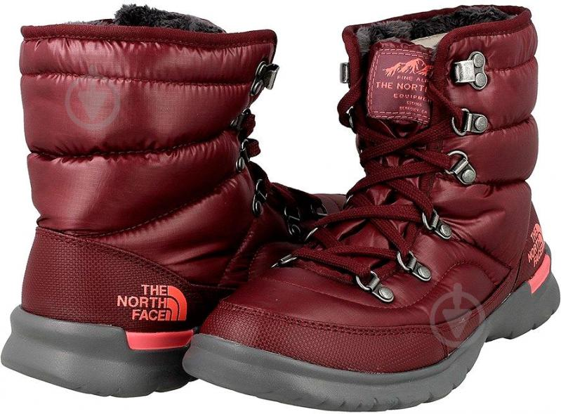 Ботинки THE NORTH FACE Face Thermoball Lace II р. 6 бордовый - фото 6
