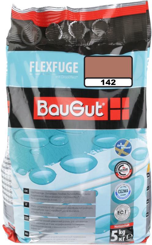 Фуга BauGut flexfuge 142 5 кг коричневый - фото 1