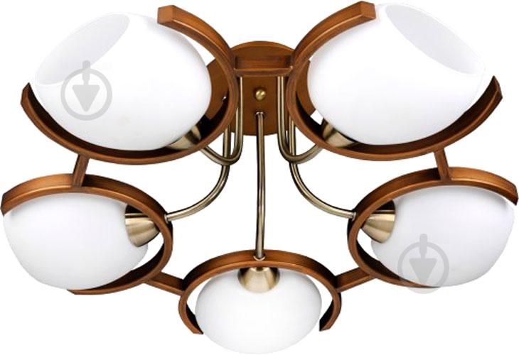 Люстра стельова Victoria Lighting 5xE14 хром/венге Odeon/PL5 walnut