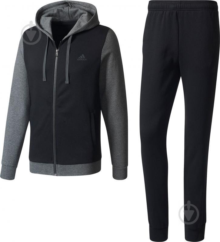 Спортивный костюм Adidas Energize р. L серый с черным BQ6974 - фото 1