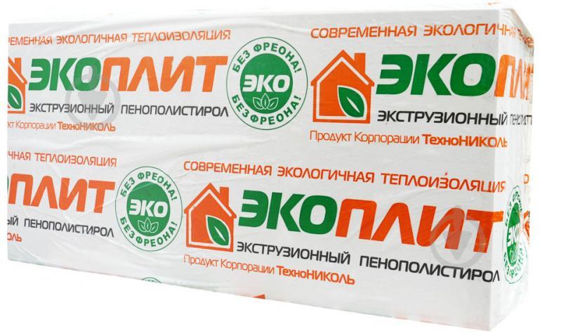 Екструзійний пінополістирол TECHNONICOL 1180x580x100мм Екопліт Стандарт 35