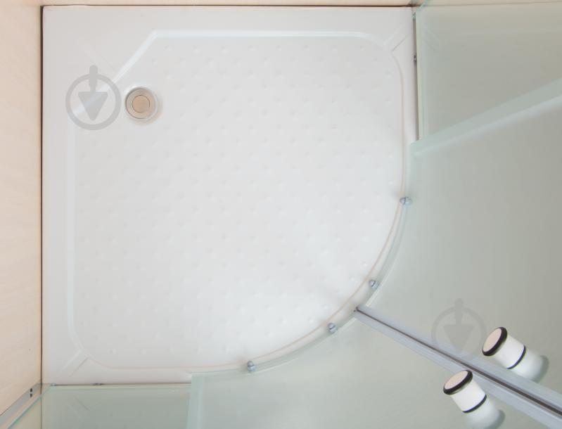 Душевая кабина SunWay SW-815S10 900x900x1900 профиль хром стекло fabric - фото 5