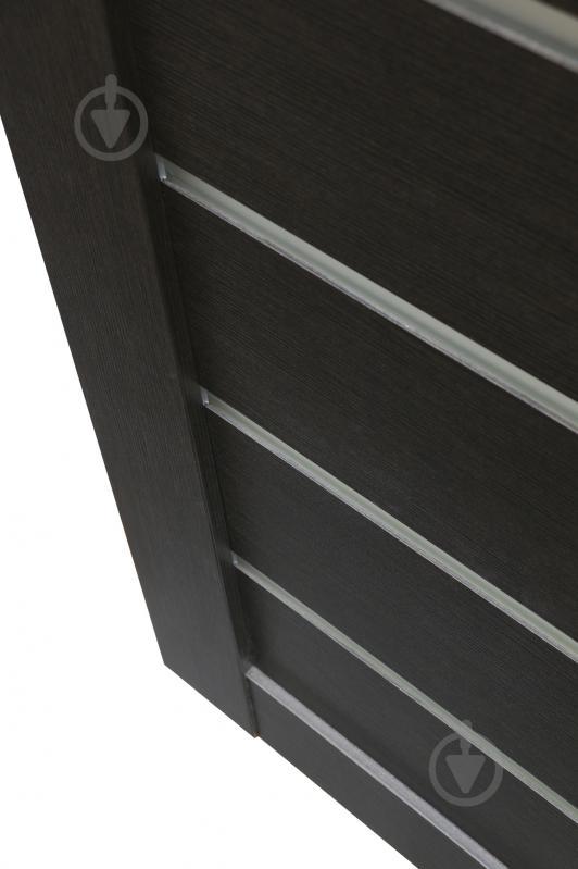 Дверне полотно Dverona 502 ПГ 800 мм венге - фото 6