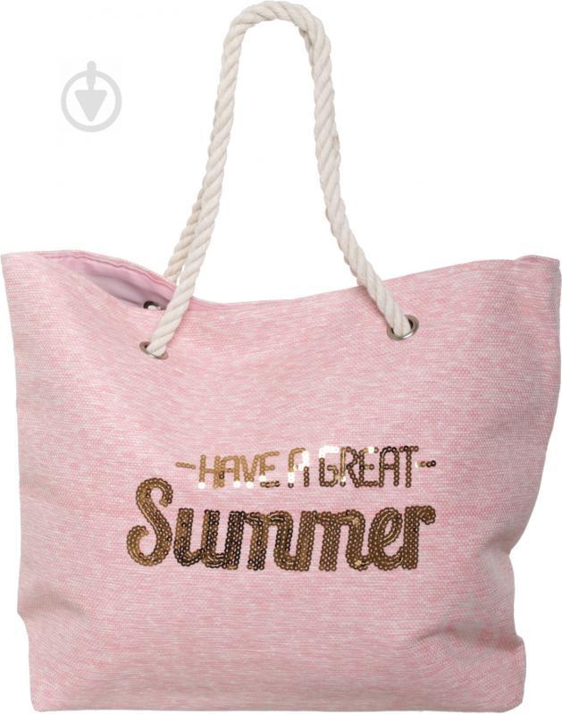 Сумка пляжна Summer рожевий LY04B7291 - фото 1