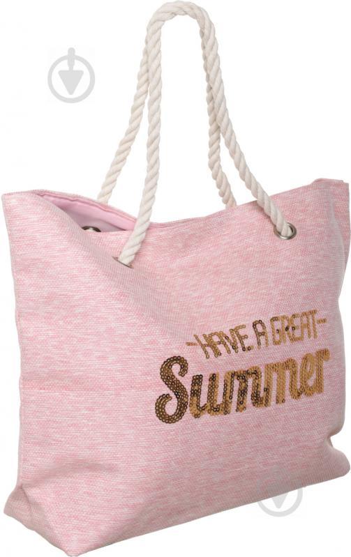 Сумка пляжна Summer рожевий LY04B7291 - фото 2