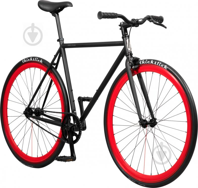 Велосипед Pure Fix Echo чорно-червоний рама - 58 см - фото 2