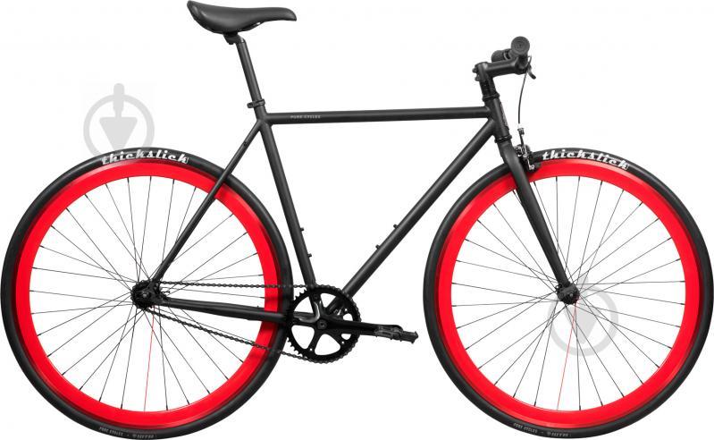 Велосипед Pure Fix Echo чорно-червоний рама - 58 см - фото 1