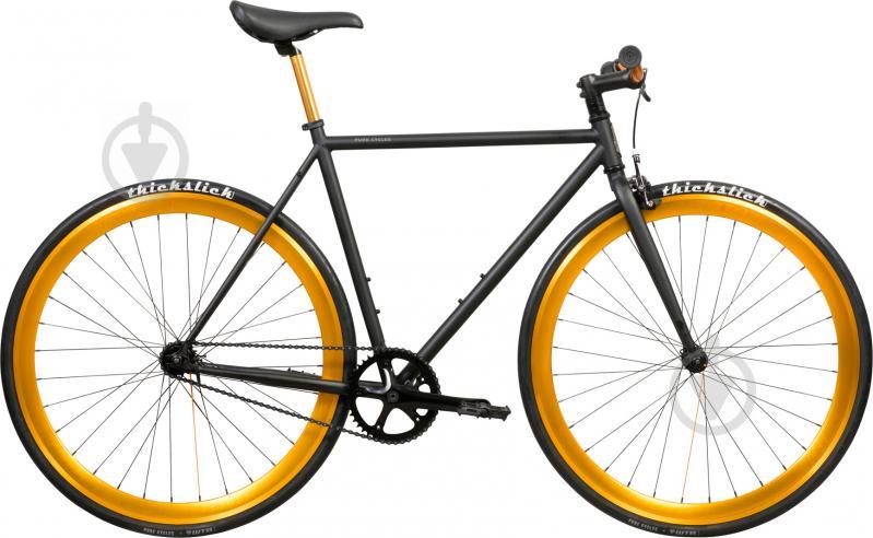 Велосипед Pure Fix India чорно-золотистий рама - 53 см - фото 1