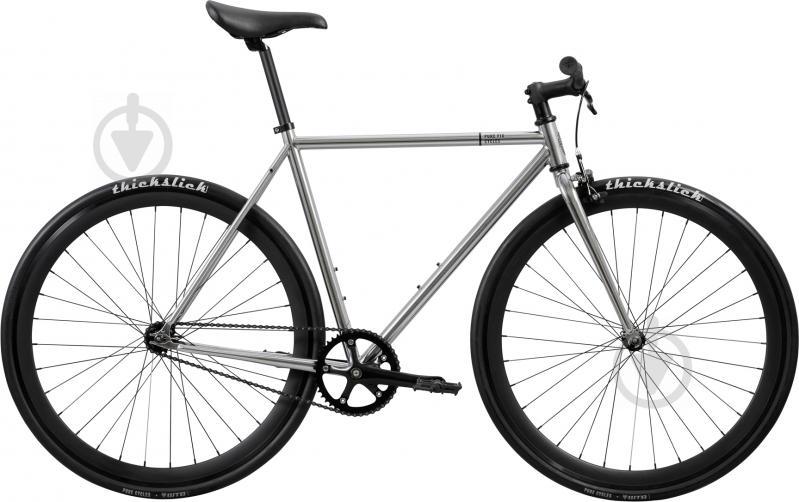 Велосипед Pure Fix Oscar сріблястий рама - 51 см - фото 1