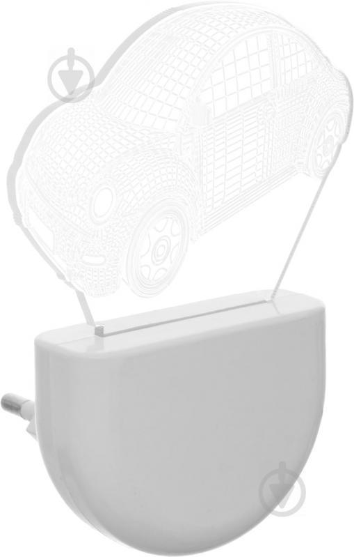 Нічник Aukes Машинка 3D LED RGB 0.5 Вт білий - фото 2
