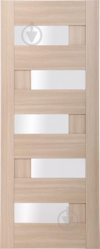 Дверне полотно ПВХ ОМіС Доміно ПО 800 мм дуб лате - фото 1