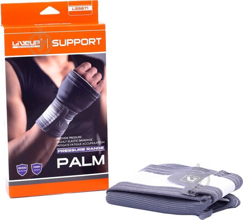 Захист зап'ястя LiveUp р. S/M Palm Support LS5671 сірий
