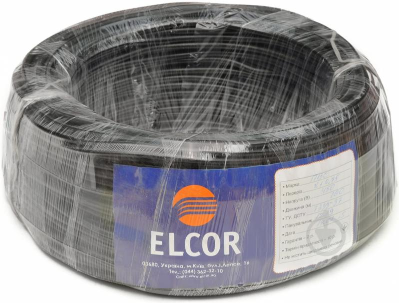 Провод многожильный  Елкор ПВС 2x0,75 черный - фото 2