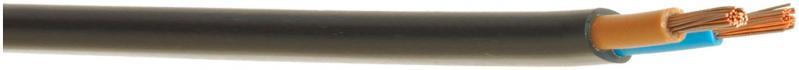 Провід багатожильний  Елкор ШВВП 2x1,0 чорний - фото 1