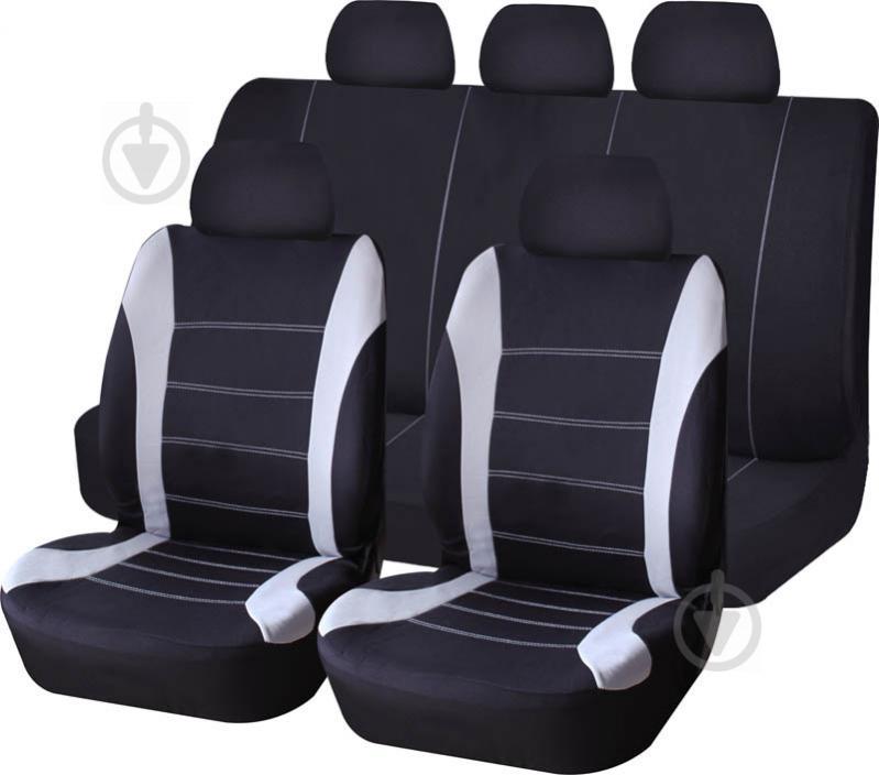 Комплект чохлів на сидіння універсал Auto Assistance TY1842-1 чорний із сірим
