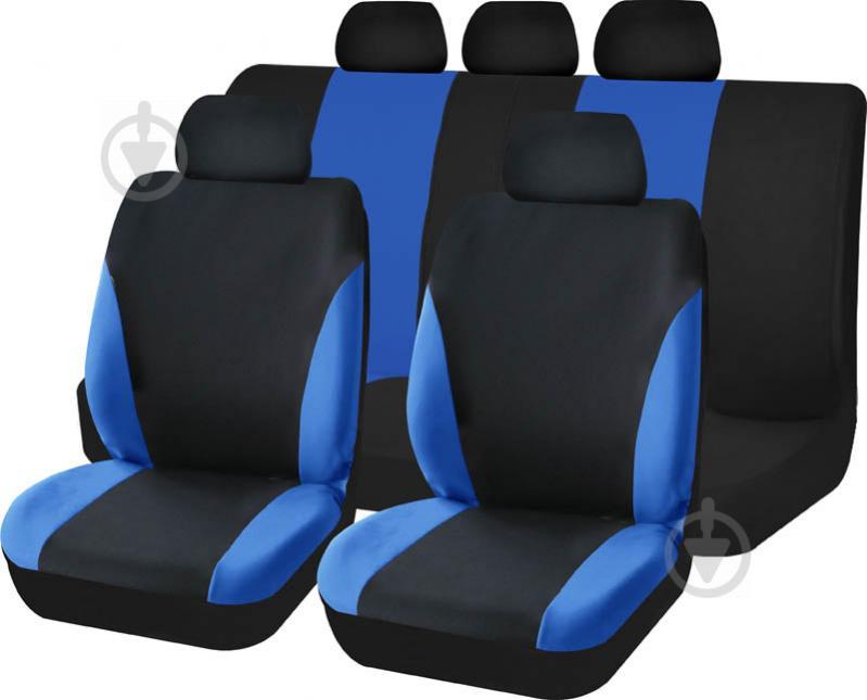Комплект чохлів на сидіння універсал Auto Assistance TY1622-3 чорний із синім