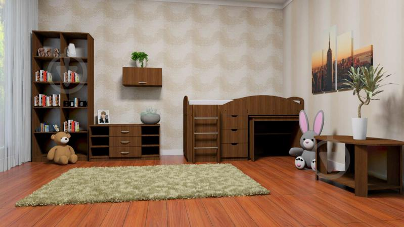 Кровать-горка Компанит Универсал 70х190 см венге - фото 2