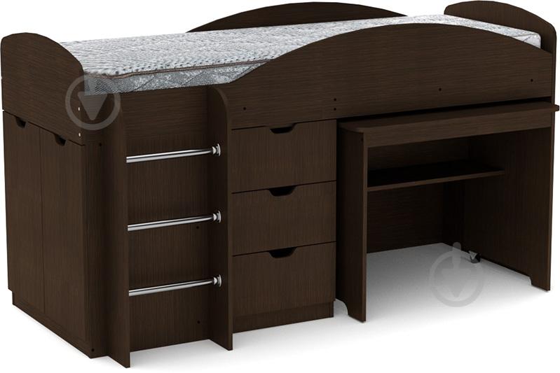 Кровать-горка Компанит Универсал 70х190 см венге - фото 1