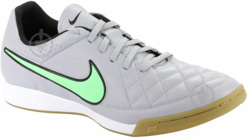 Бутсы Nike Tiempo Genio Leather IC 631283-030 10,5 серый - фото 2