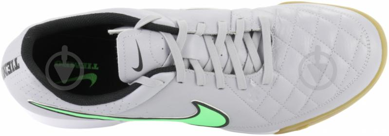 Бутсы Nike Tiempo Genio Leather IC 631283-030 р. 9 серый - фото 5