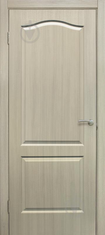 Дверне полотно ОМіС Класика ПГ 600 мм дуб вибілений - фото 1