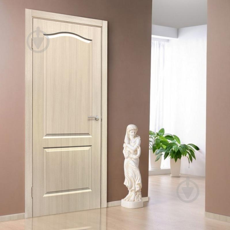 Дверне полотно ОМіС Класика ПГ 600 мм дуб вибілений - фото 2