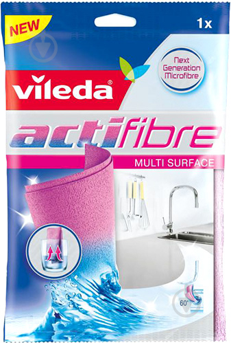 Салфетка для уборки Vileda Actifibre 29х29 см 1 шт./уп. - фото 1