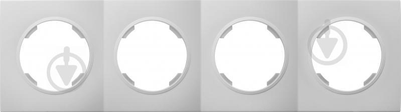 Рамка четырехместная HausMark Bela универсальная белый SNG-FRP.RD20G4-WH - фото 1