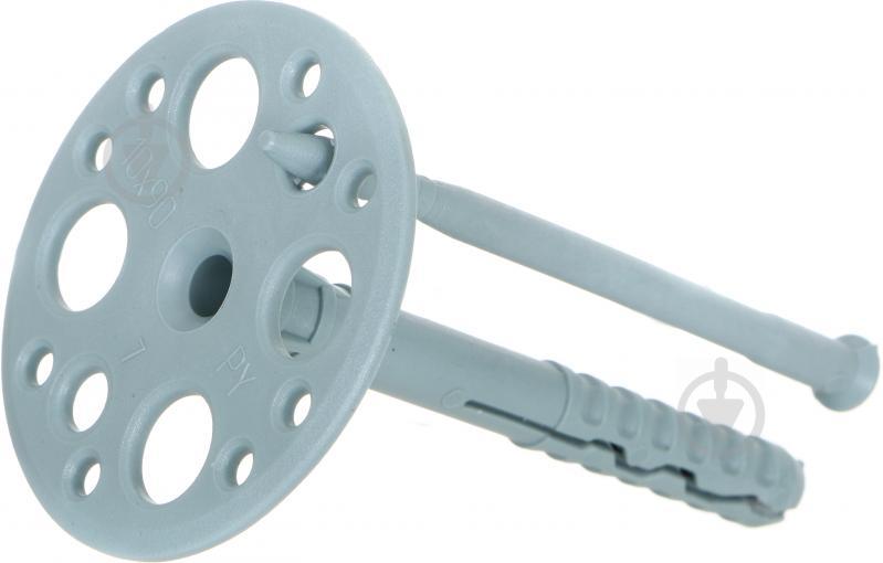 Дюбель для теплоизоляции с пластиковым гвоздем 10x90 мм 24 шт BauGut - фото 1