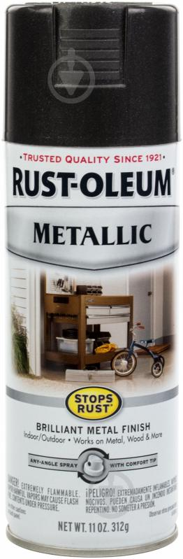 Фарба аерозольна Stop Rust Metallic Rust Oleum темна ніч 312 г - фото 1