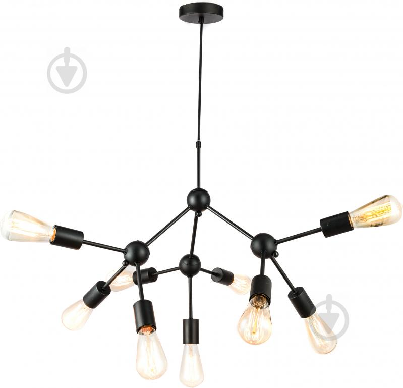Люстра стельова Accento lighting 9x40 Вт E27 чорний - фото 1