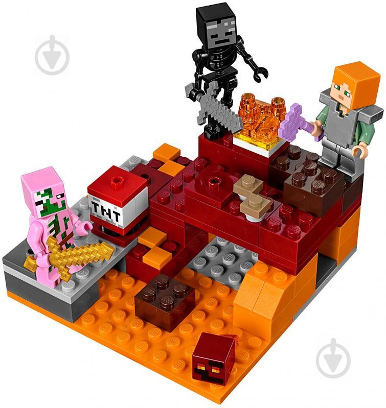 237d52423 ᐉ Конструктор LEGO Minecraft Битва у Нижньому світі 21139 • Краща ...