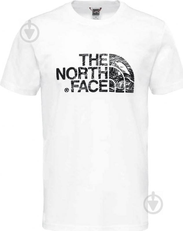 Футболка THE NORTH FACE M S/S Woodcut Dome Tee р. XL белый T0A3G1LA9 - фото 3