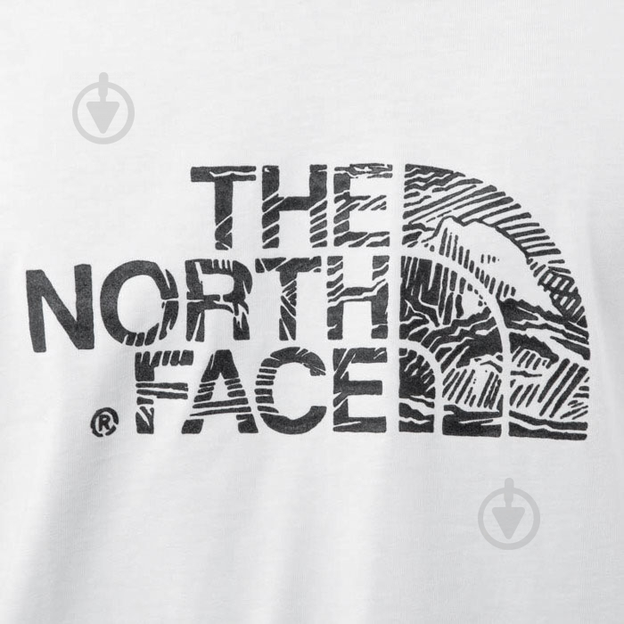 Футболка THE NORTH FACE M S/S Woodcut Dome Tee р. XL белый T0A3G1LA9 - фото 5