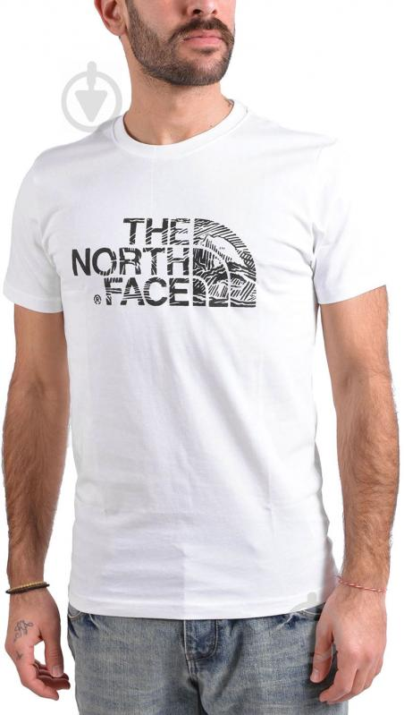 Футболка THE NORTH FACE M S/S Woodcut Dome Tee р. XL белый T0A3G1LA9 - фото 1
