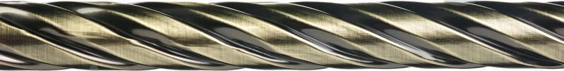 Карниз крученый Ажур Bella Vita одинарный укомплектованный d25 мм 160 см античная бронза - фото 2