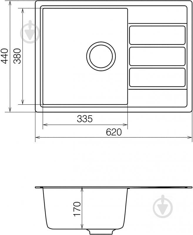 Мойка для кухни Vankor Easy EMP 02.61 Beige - фото 5