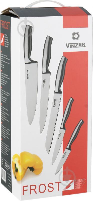 Набір ножів на підставці Frost 6 предметів 89126 Vinzer - фото 8