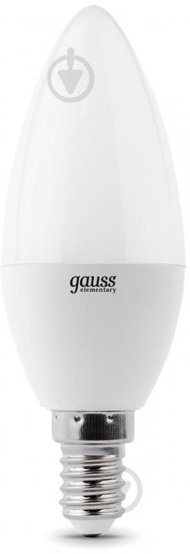 Лампа светодиодная Gauss Elementary 6 Вт C37 матовая E14 220 В 4100 К 33126 - фото 1