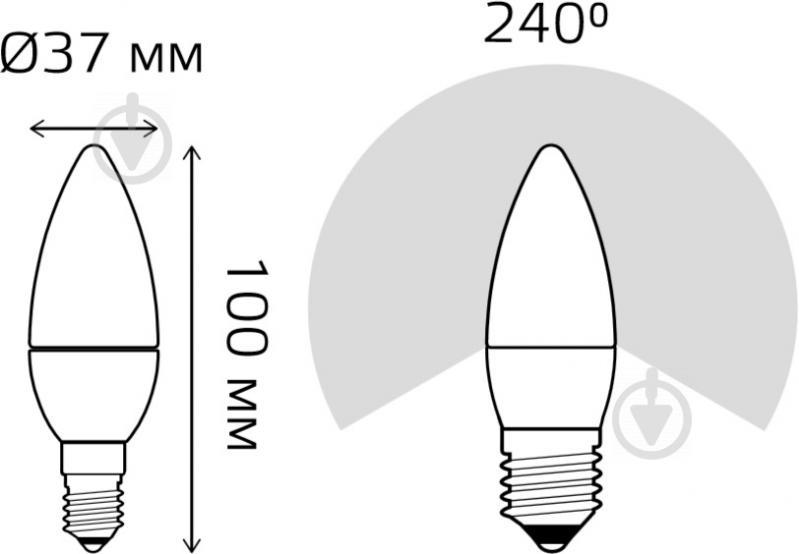 Лампа светодиодная Gauss Elementary 6 Вт C37 матовая E14 220 В 4100 К 33126 - фото 3