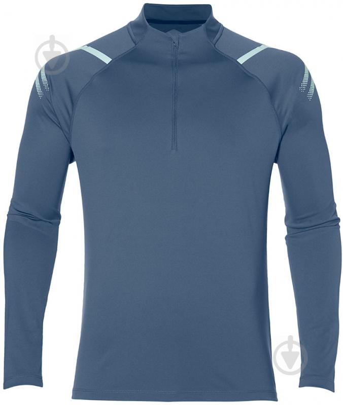 Футболка Asics ICON LS 1/2 ZIP 154588-0793 р. S темно-синий - фото 1